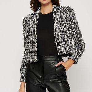 Lana puff sleeve crop blazer